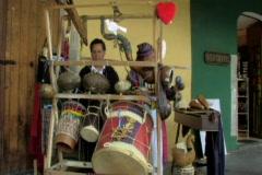 Guatemalan band setting up Stock Footage