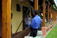 Harpist in Antigua Stock Footage