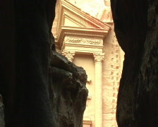 Siq canyon in Petra Stock Footage