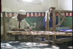 Silk weaving in Hotan Stock Footage