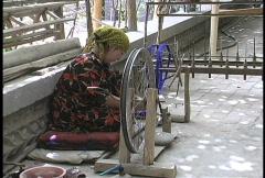 Winding silk thread Stock Footage