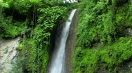 Stock Video Footage of Jungle waterfall