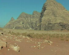 Wadi Rum desert view Stock Footage