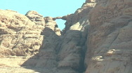 Stock Video Footage of Bridge  in Wadi Rum deset , Jordan