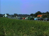 East Germany 1990 Cars leaving East Germany Stock Footage