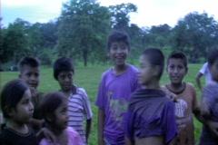 Kids in village 2 Stock Footage