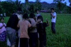 Kids in village 4 Stock Footage