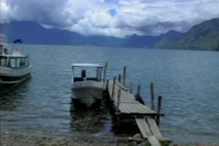 Lake Atitlan Panajachel Stock Footage