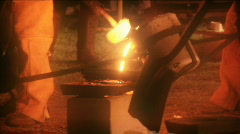 iron art casting 6 released HD - stock footage