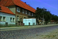 East Germany 1990  Farm village with shop Stock Footage