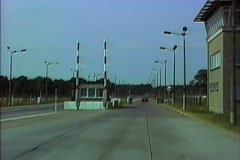 East Germany 1990 approaching East Berlin Stock Footage