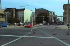 East Germany 1990 Site of former Berlin wall Stock Footage