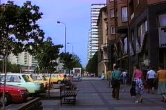 East Berlin street 1990 Stock Footage