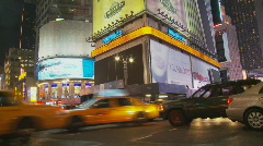 Time lapse streets in manhattan by night  Stock Footage
