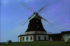 Windmill East Germany 1990 Stock Footage