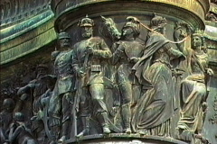 East Germany 1990 Dresden bronze soldiers - stock footage