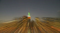 Blurred zoom skyline manhattan Stock Footage