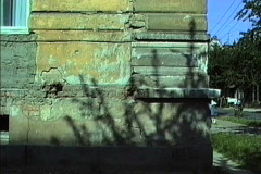 East Germany 1990 Damaged building Weimar Stock Footage