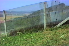 East Germany 1990 Pans fence Stock Footage