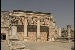 Capernaum synagogue ruins Stock Footage