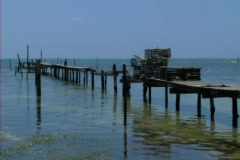 Old dock Stock Footage