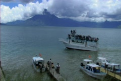 Passenger boat in Lake Atitlan 1 Stock Footage
