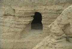 Cave at Qumran Stock Footage