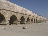 Stock Video Footage of Roman aquaduct Caesarea