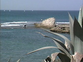 Stock Video Footage of Mediterranean Sea at Caesarea