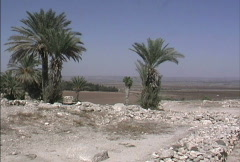 View from Tel Megiddo Stock Footage