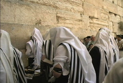 Praying at Western Wall - stock footage