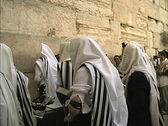 Stock Video Footage of Praying at Western Wall