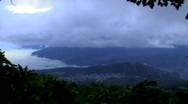 View of Antigua from vocano Stock Footage