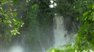 Stock Video Footage of Waterfall in forest