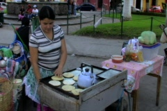 Woman making tortilla in Antigua - stock footage