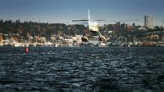 Seaplane Landing Stock Footage