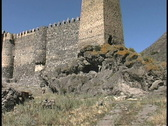 Fortress Khevisisi Stock Footage