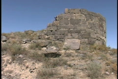 Ruins slave market Stock Footage
