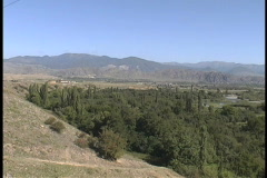 Mtkvari river valley  Stock Footage