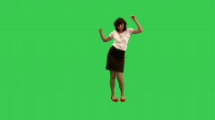 girl dancing - green screen - prekeyed - MINT.GS - stock footage