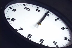 Fast spining clock - stock footage