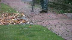 Leaf blower. Stock Footage