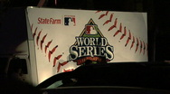 Stock Video Footage of World Series Banner