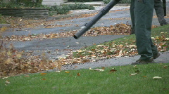 Leaf Blowers.  - stock footage