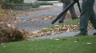 Leaf Blowers.  Stock Footage