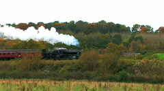 Steam train in the countryside Stock Footage