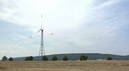 Stock Video Footage of Wind energy generator wide shot