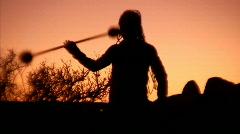 Juggling Sunset 1 - stock footage