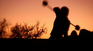 Juggling Sunset 1 Stock Footage