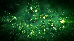 Diamonds flying in front of the camera Stock Footage